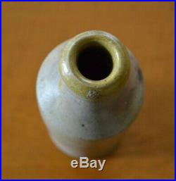 1853 John Edwards Marked Salt Glazed Stoneware Beer Bottle New York