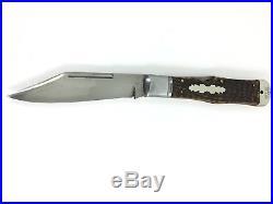 1856-1931 New York Knife Co Coke Bottle Lockback BONE Collector NYK 1854-MNQ