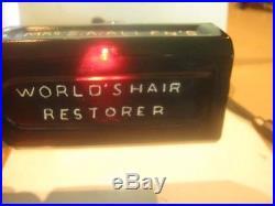 1860's BEAUTIFULLY GRAPE COLOR MRs S. A. ALLEN'S WORLD HAIR RESTORER NEW YORK