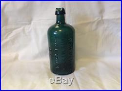 1860's G. W Merchant Chemist Lockport N. Y. Emerald Green Nice