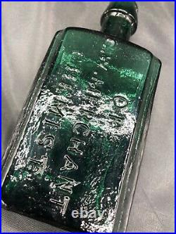 1860's Original Condition G. W. Merchant Chemist, Lockport, N. Y. Antique Bottle