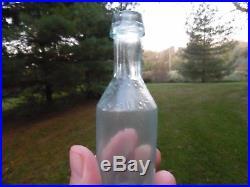 1870's Aqua Reynard's Insect Powder N. Y. Bug Bottle