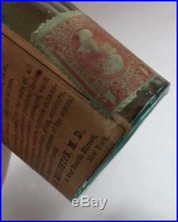 1870s ANTIQUE Invigorating MANHOOD RESTORER BOTTLE Dr. L. D. Broughton NEW YORK