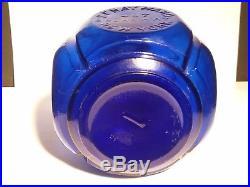 1871 Antique Cobalt Blue Sf Hayward New York Hand Fire Grenade Extinguisher
