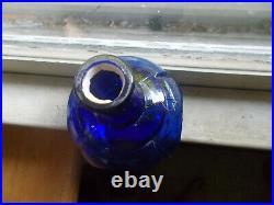 1871 Patent Hayward's Hand Fire Grnade Broadway Ny Hand Blown Cobalt Bottle