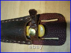 1900s Olcut Union, NY USA Large Coke Bottle Pocket Knife ADVANCE&Hand made case