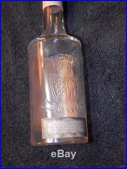 1908 RICHARD HUDNUT Perfumer EAST INDIA BAY RUM Glass Bottle PEWTER TOP New York