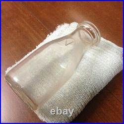 1920s RARE VINTAGE EMBOSSED PINT Milk Bottle NETHERLANDS Dairy SYRACUSE NEW YORK
