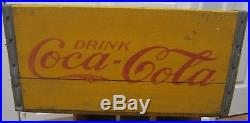 1930s COCA-COLA Wood NEW YORK, NY Coke Bottle Crate Carrier Box 17 x 11 x 8.6