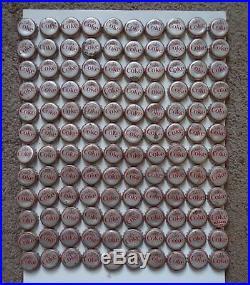 1964-65 Coca Cola NEW YORK WORLD'S FAIR Comp Set 120 Bottle Caps & SAVER SHEET &