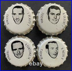 1964-65 NHL Hockey Coca-Cola Factory Issued 17 New York Rangers Bottle Caps