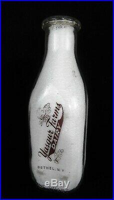 1966 Yasgur Quart Dairy Milk Bottle Woodstock Festival Bethel NY
