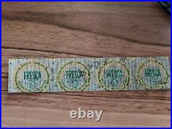 1967 Coca-Cola Baseball Bottle Caps UNPUNCHED strip Of 4 Fresca New York Yankees