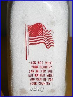 1969 Luce's Maple Crest Dairy Dunkirk Fredonia Sheridan Ny Flag 1 Qt Milk Bottle