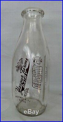 1969 Yasgur Quart Dairy Milk Bottle Woodstock Bethel NY Excellent Condition