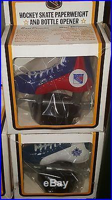 1970's New York Rangers Hockey Skate Bottle Opener VTG NHL Scott Mint NIB