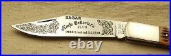 1982 Kabar Knife Collectors Club Coke Bottle Folding Hunter Knife, Olean, NY