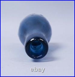 19c John Lake Schenectady NY Iron Pontil Blue Ten Pin Blob Top Soda Water Bottle
