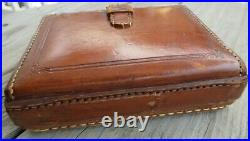 19th C. CASWELL HAZARD CO NY Doctors Leather Apothecary Travel Case NO Bottles
