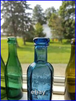 2 Different C. Heimstreet & Co. Troy N. Y. Hair Bottles Cobalt and Ice Blue