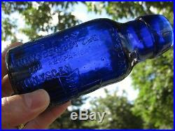 2 RARE REED & CARNRICK NY FOOD/MILK bottlesPHYSICIAN'S SAMPLE is EXTREMELY RARE
