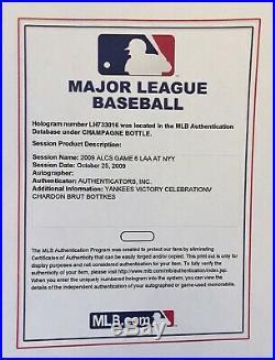 2009 Alcs New York Yankees Locker Celebration Champagne Bottle Steiner Mlb Coa