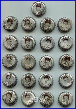 (21) 1959 Yoo Hoo Baseball Bottle Caps Mickey Mantle Yogi Berra New York Yankees