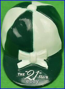 21 Club New York Green/ White Jockey Cap Bottle Opener