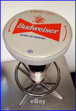 new product fad62 61050 3) Budweiser Vintage Bar Stools BEER BOTTLE Swivel LOCAL ...