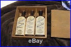 3 bottles with box LARGE antique LACTOPEPTINE elixir new york quack MEDICINE