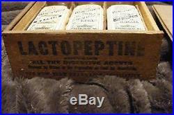 3 bottles with box LARGE antique LACTOPEPTINE elixir new york quack MEDICINE