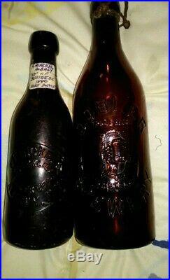 (5) Rare Pre-prohibition Beer Bottles Hinckle, Dobler, Albany & Troy New York