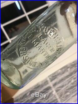 A Vintage Blob Top Bottle D. C. Yuengling Jr. Riverside N. Y. L. Martin