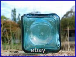 AAA. ANTIQUE BOTTLE NEW YORK HOP BITTERS COMPANY RARE TEAL BLUE OLD BOTTLE 1870's