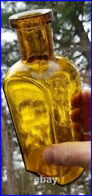 AMAZING COLOR antique bottle Reed and Carnrick Pharmacists New York