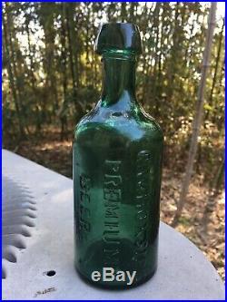 ANTIQUE TAPERED TOP G. W. HOXSIE'S PREMIUM BEER LIQUOR ALE PORTER ALBANY NY 1860s