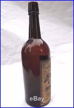 Antique Victor Brand Melrose XXXX Rye Whisky Bottle New York