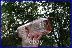 ART DECO HARRY ALEDORT NY NYC SELTZER water bottle PINK depression glass Corona