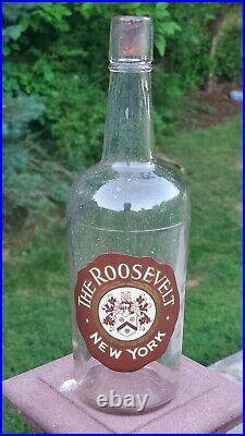 ATTIC MINT 1920s Roosevelt Hotel Manhattan NYC New York Liquor Bottle