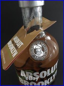 Absolut Vodka Brooklyn New York USA Spike Lee full 1 Litre 40%Vol. Bottle