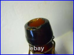 Amber Quart Blob Top Selmer's Celebrated California Pop Beer Brooklyn NY Bottle