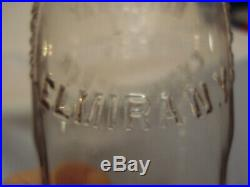 American La France Fire Engine Co. Fire Extinguisher Glass Bottle Elmira, N. Y