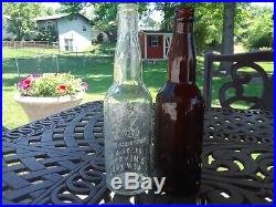Anheuser-Busch pre-prohibition Beer bottle St. Louis New York lot of 2