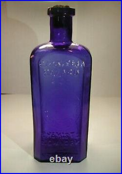 Antique 1870's Caswell Hazard & Co. Cobalt blue New York & Newport Medicine