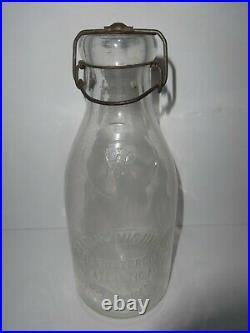 Antique (1890-1910) Isaac W. Rushmore, Brooklyn, Ny. 1 Quart Milk Bottle