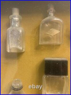 Antique 1930s LOT Perfume Bottles L'Origan de Coty, Lucien Lelong, Paris NY etc