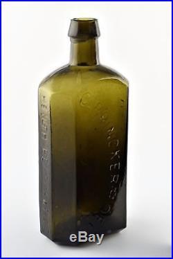 Antique 19th Century C. Brinckerhoffs Health Restorative New York Glass Bottle
