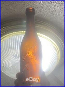 Antique Amber Blob Top Beer Hinckel Brewing Co. Saratoga N. Y. 1880s