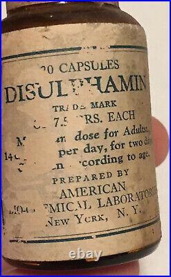 Antique American Pharmical Laboratories Medicine Bottle New York NY Rare