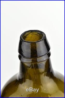Antique American Quart Size LYNCH & CLARKE NEW YORK Glass Bottle